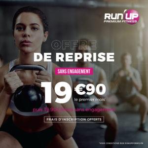 Offre de reprise dans vos salles de sport, gym et fitness Run'UP Forme